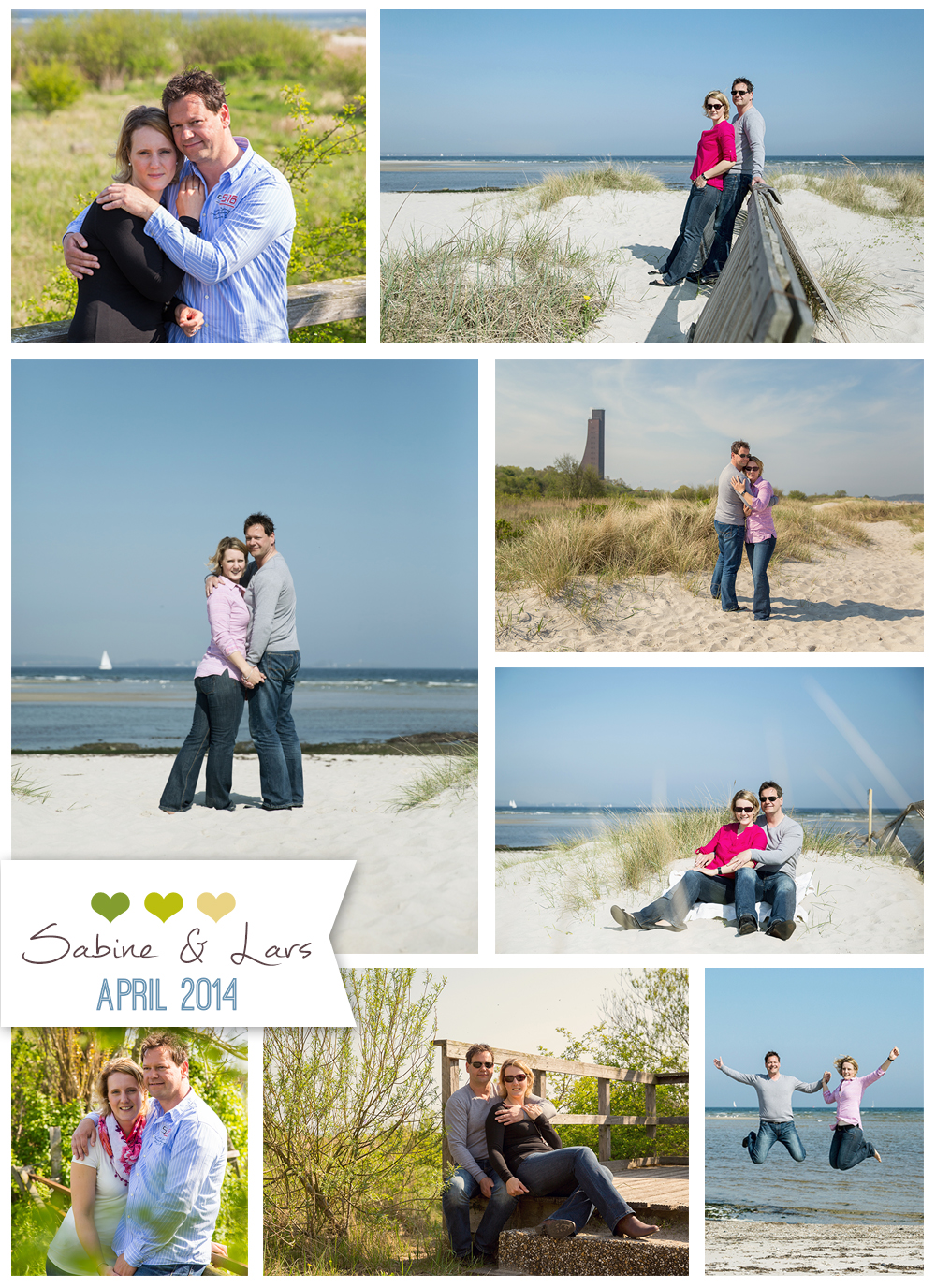 Paar-Shooting am Strand, Laboe