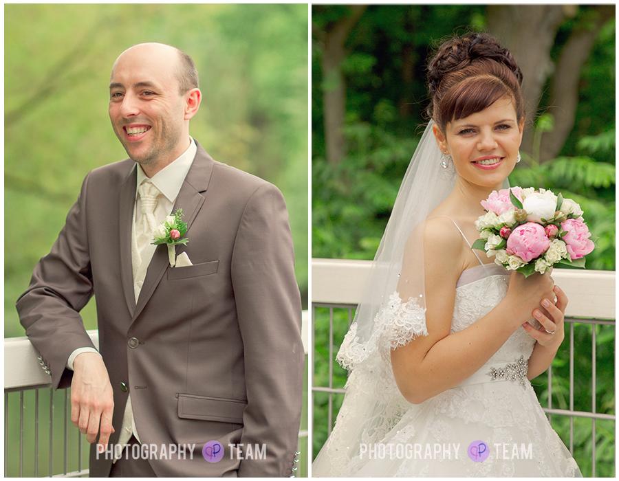 Brautpaar-Portraits am Kanal
