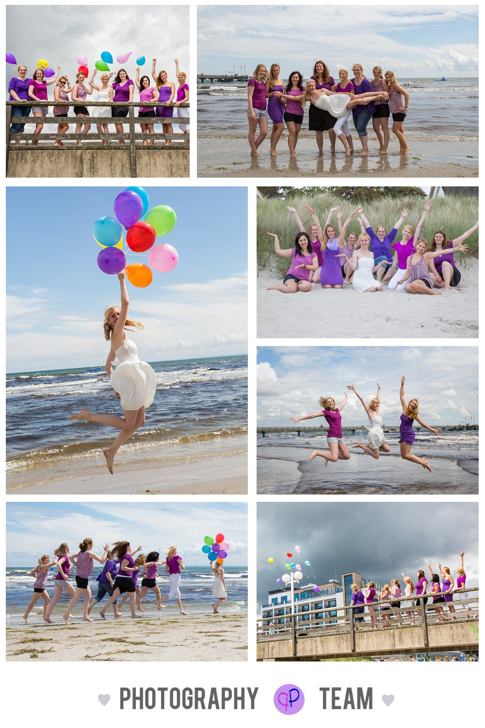 Freundinnen Shooting, Luftballon-Shooting, Strand-Shooting