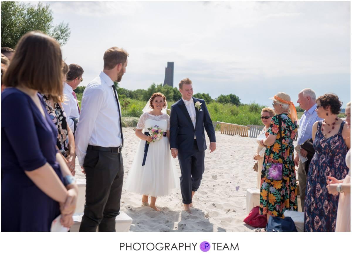 Beach-Hochzeit an der Ostsee
