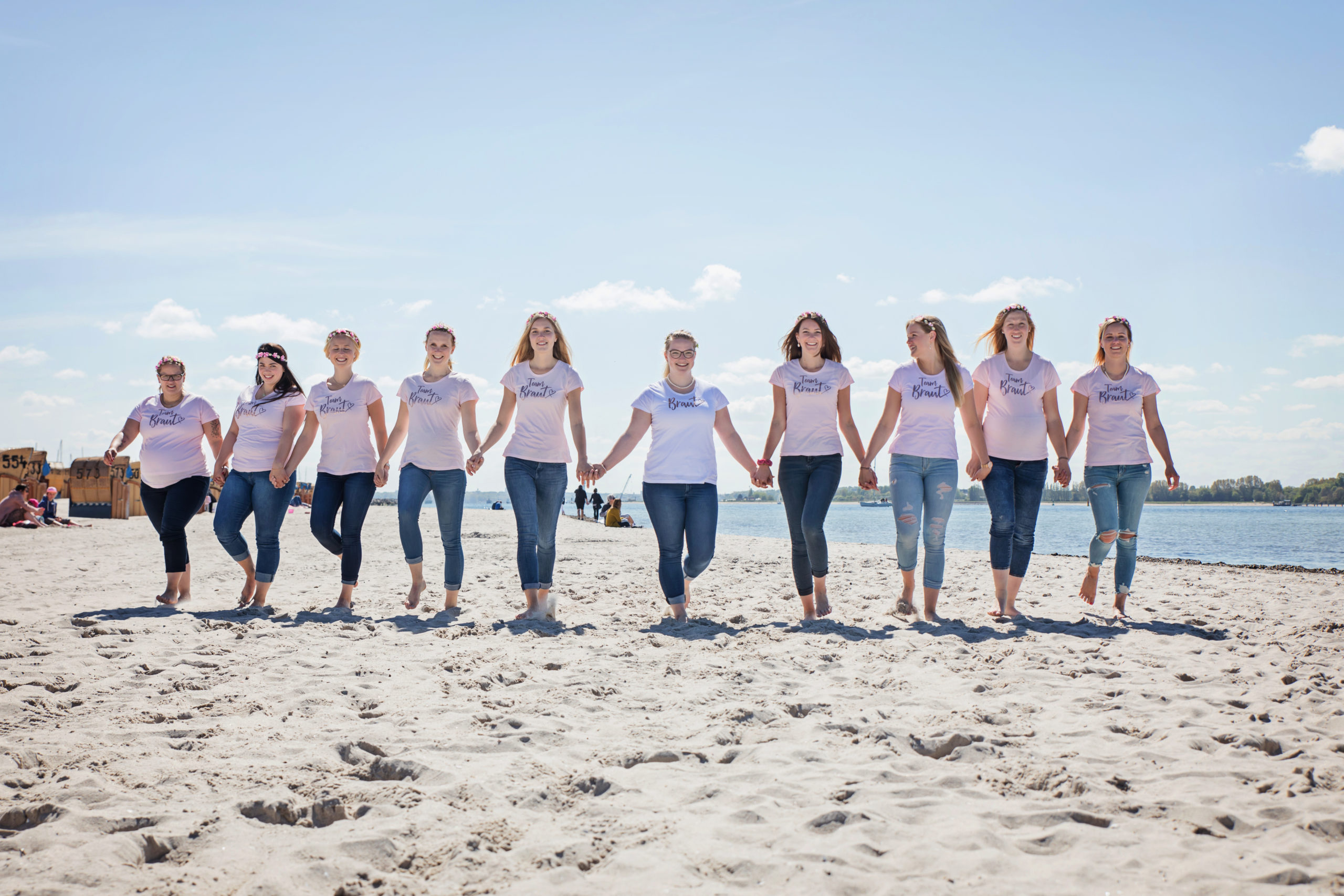 JGA Fotoshooting am Strand