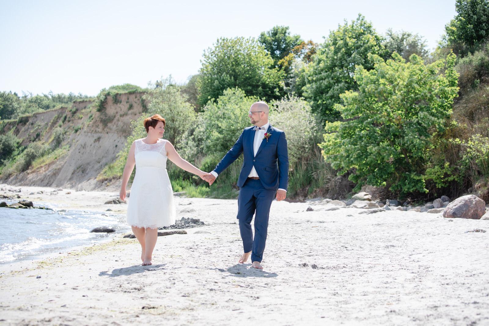 Hochzeitsfotografie am Strand in Grömitz